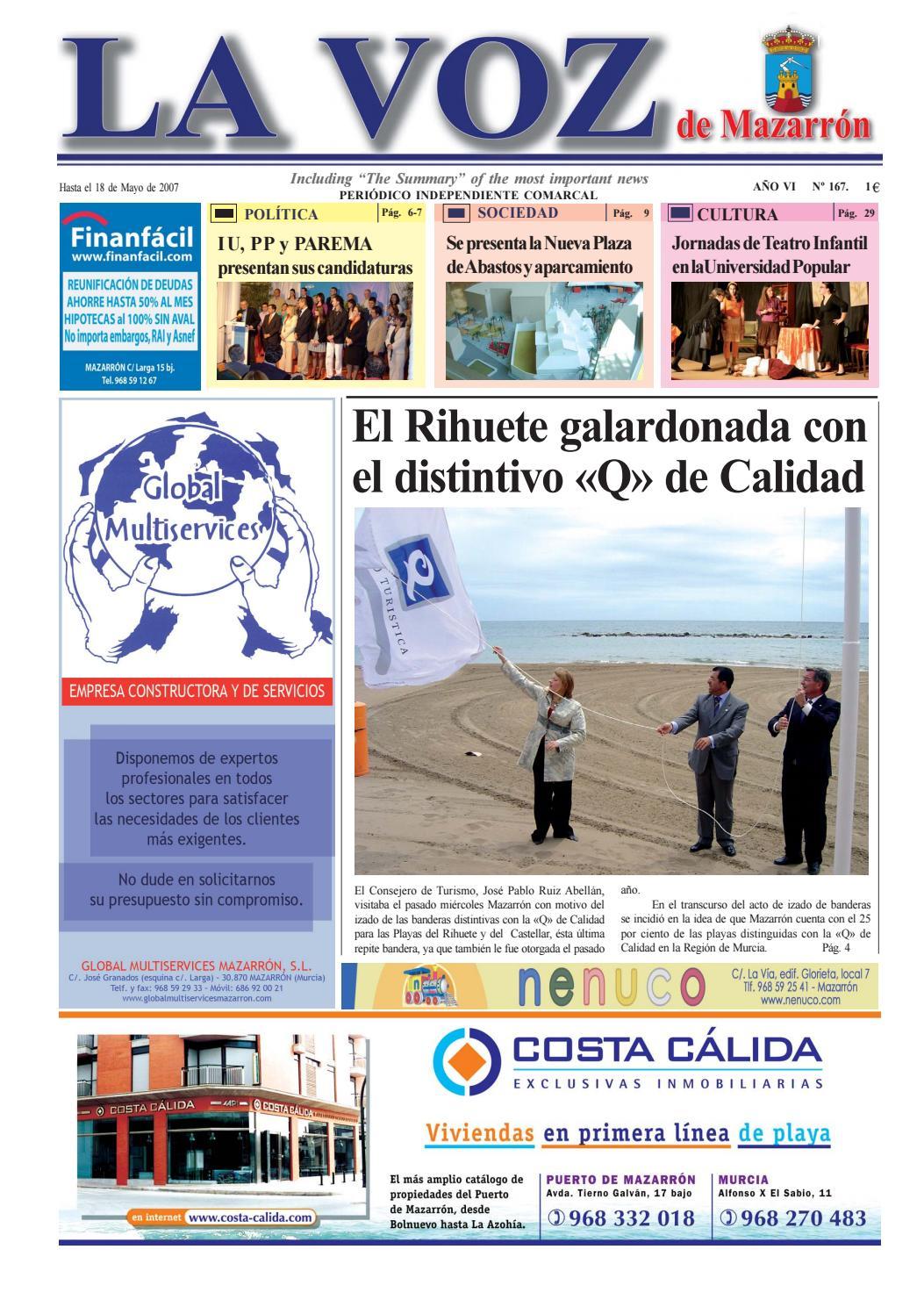 Voz167 by La Voz de Mazarrón (Periódico) - issuu