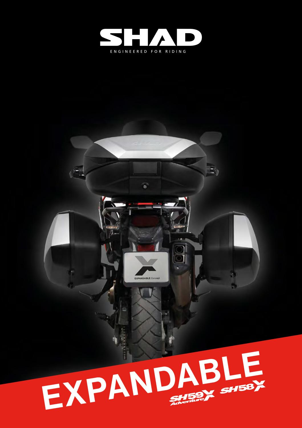 SHAD H0CF54ST Honda CB500F//CBR500R 14 Noir
