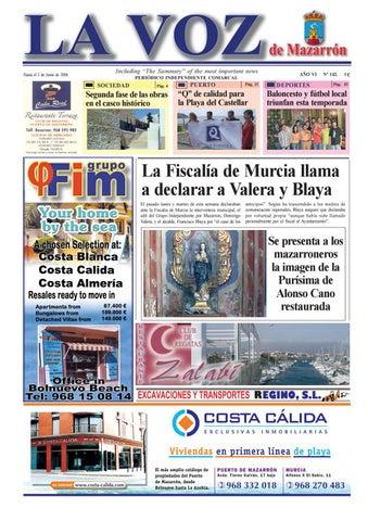 Voz142 by La Voz de Mazarrón (Periódico) - issuu 535a69d1d7d15