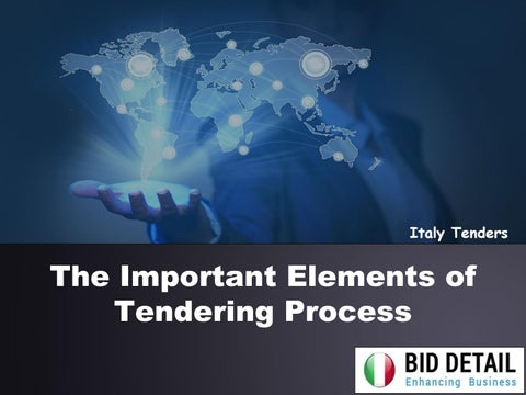 The Important Elements of Tendering Process by Bid Detail