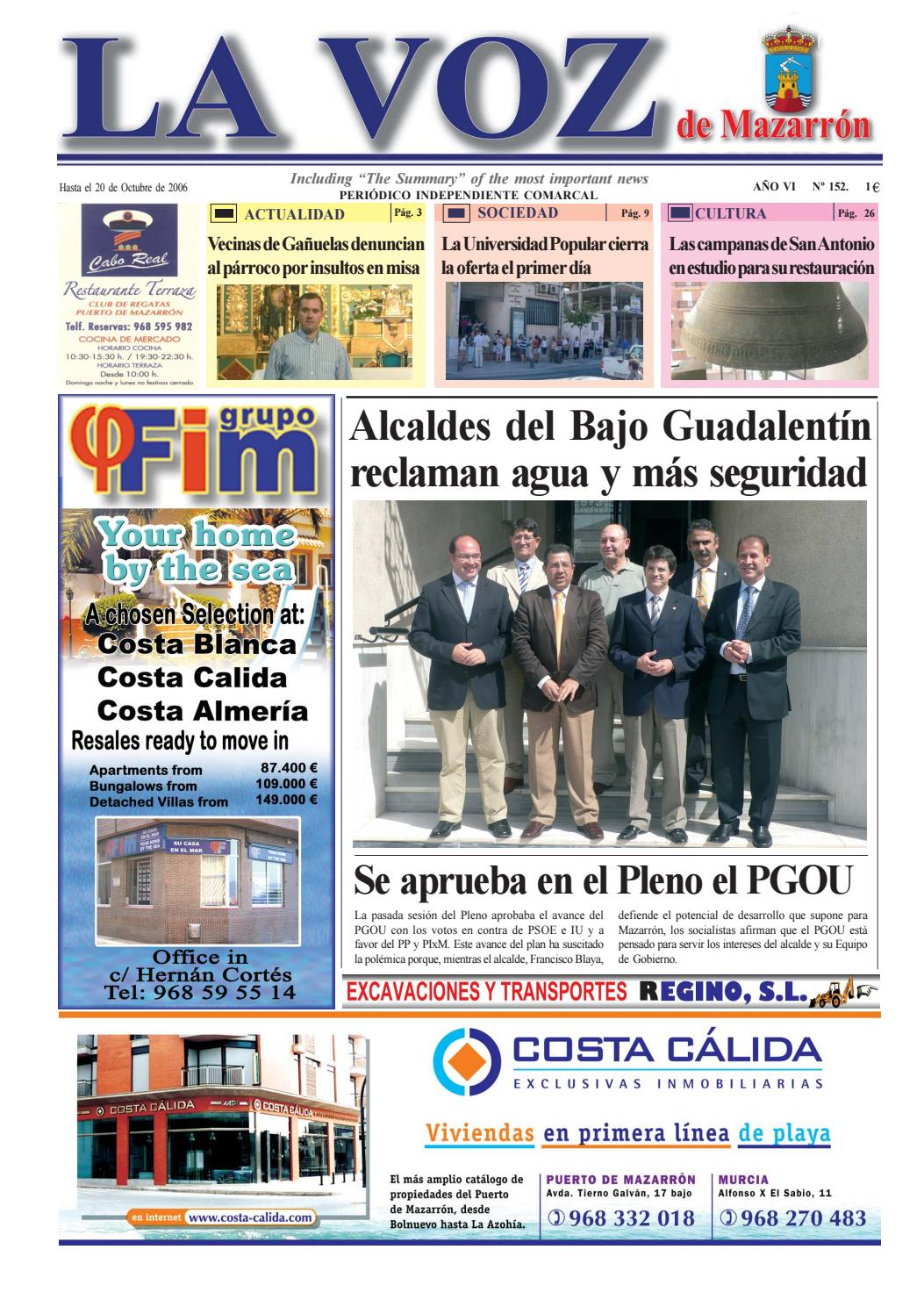 Voz152 by La Voz de Mazarrón (Periódico) - issuu 16308a179dd