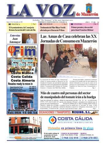 6e64eeb3feda1 Voz 128 by La Voz de Mazarrón (Periódico) - issuu