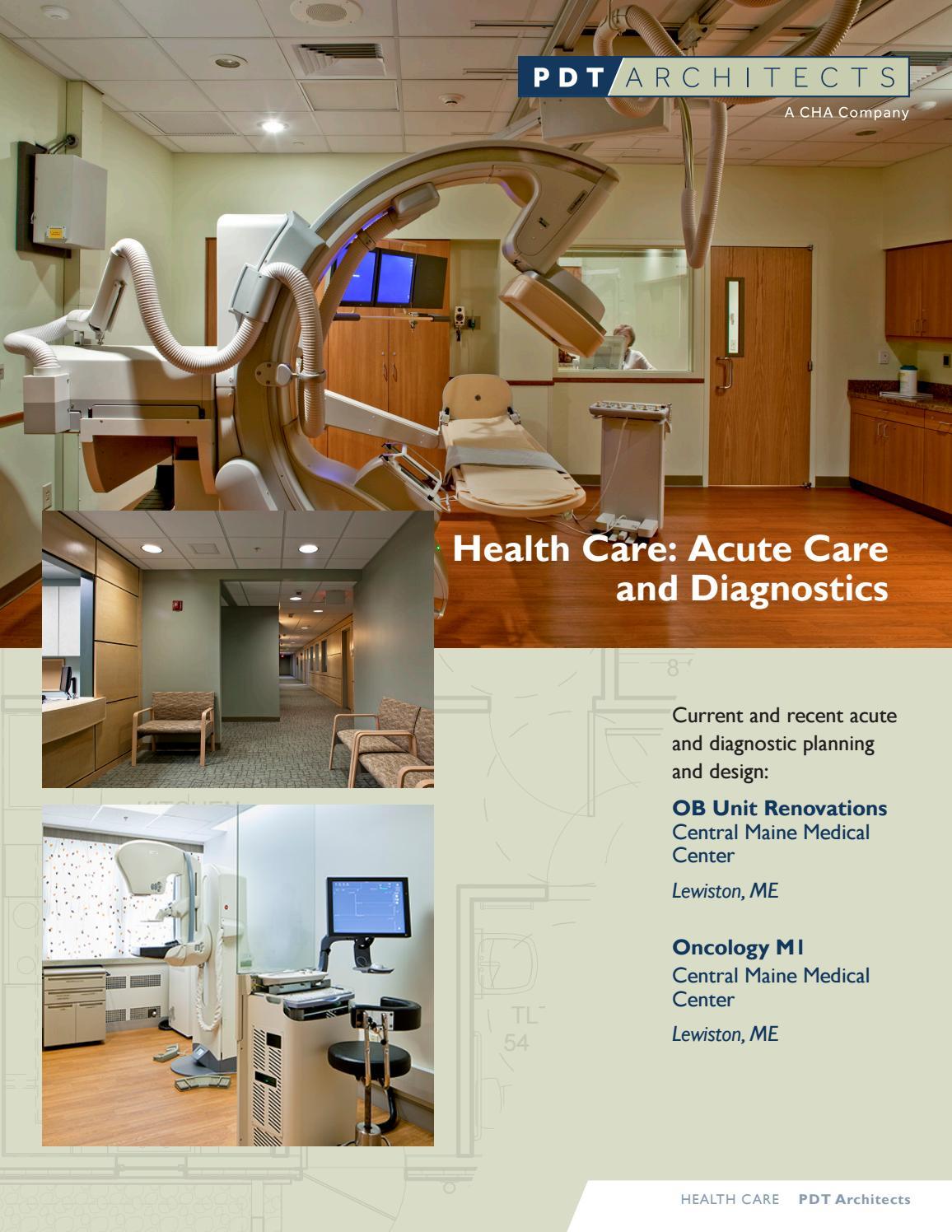 Health care acute care diagnostics brochure by PDT