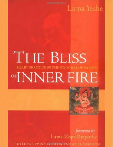 Tsongkhapa naropa yeshe the bliss of inner fire by