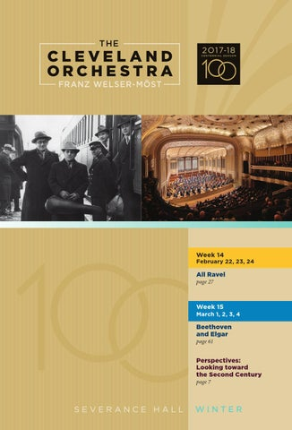 0593ca570d The Cleveland Orchestra February 22, 23, 24, March 1, 2, 3, 4 Concerts