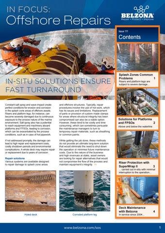 Belzona - In focus offshore repairs by ipcm® International