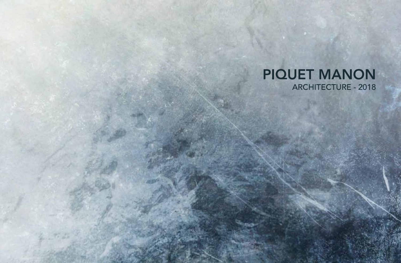 Portfolio 2018 By Piquetmanon Issuu