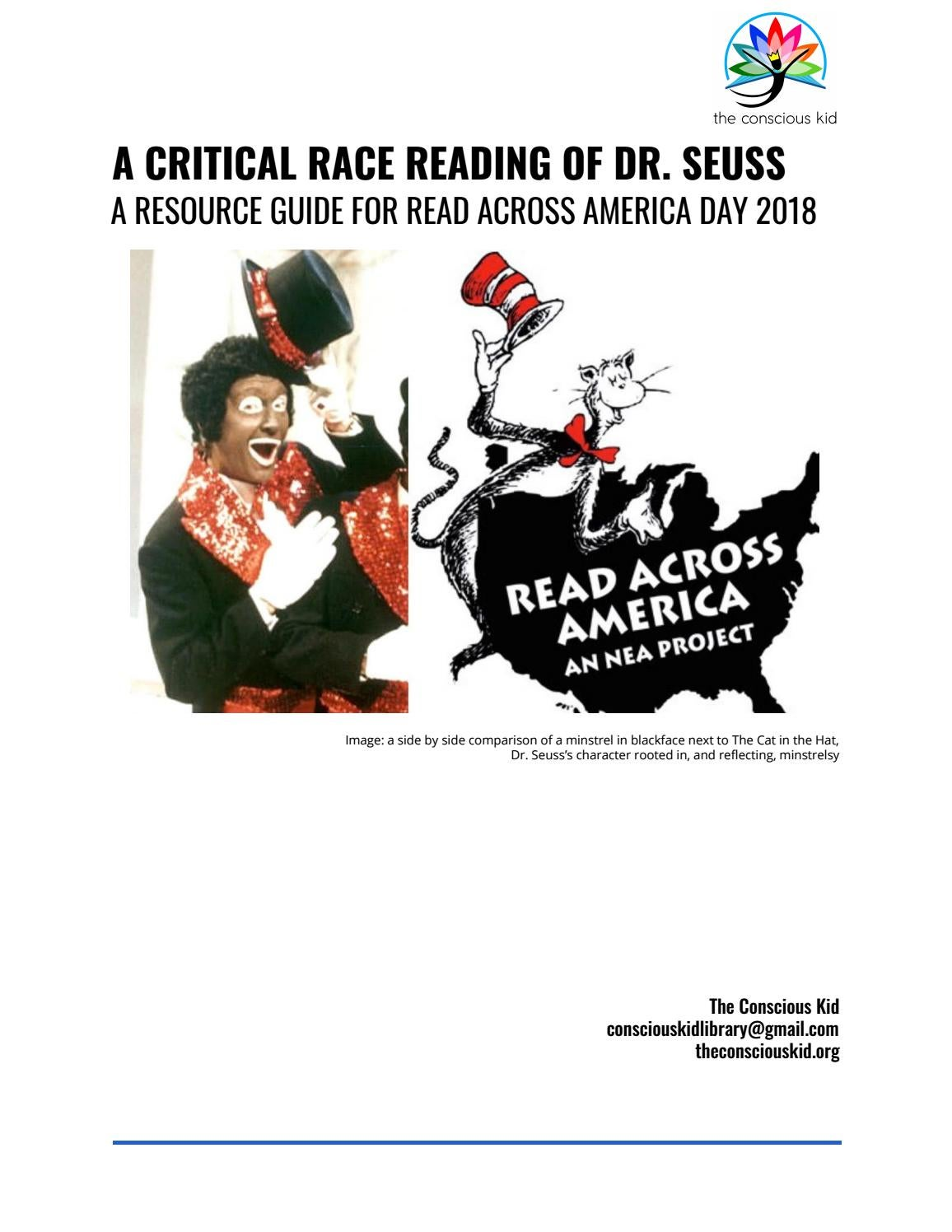 Critical Race Reading Of Dr Seuss By Consciouskidlibrary Issuu