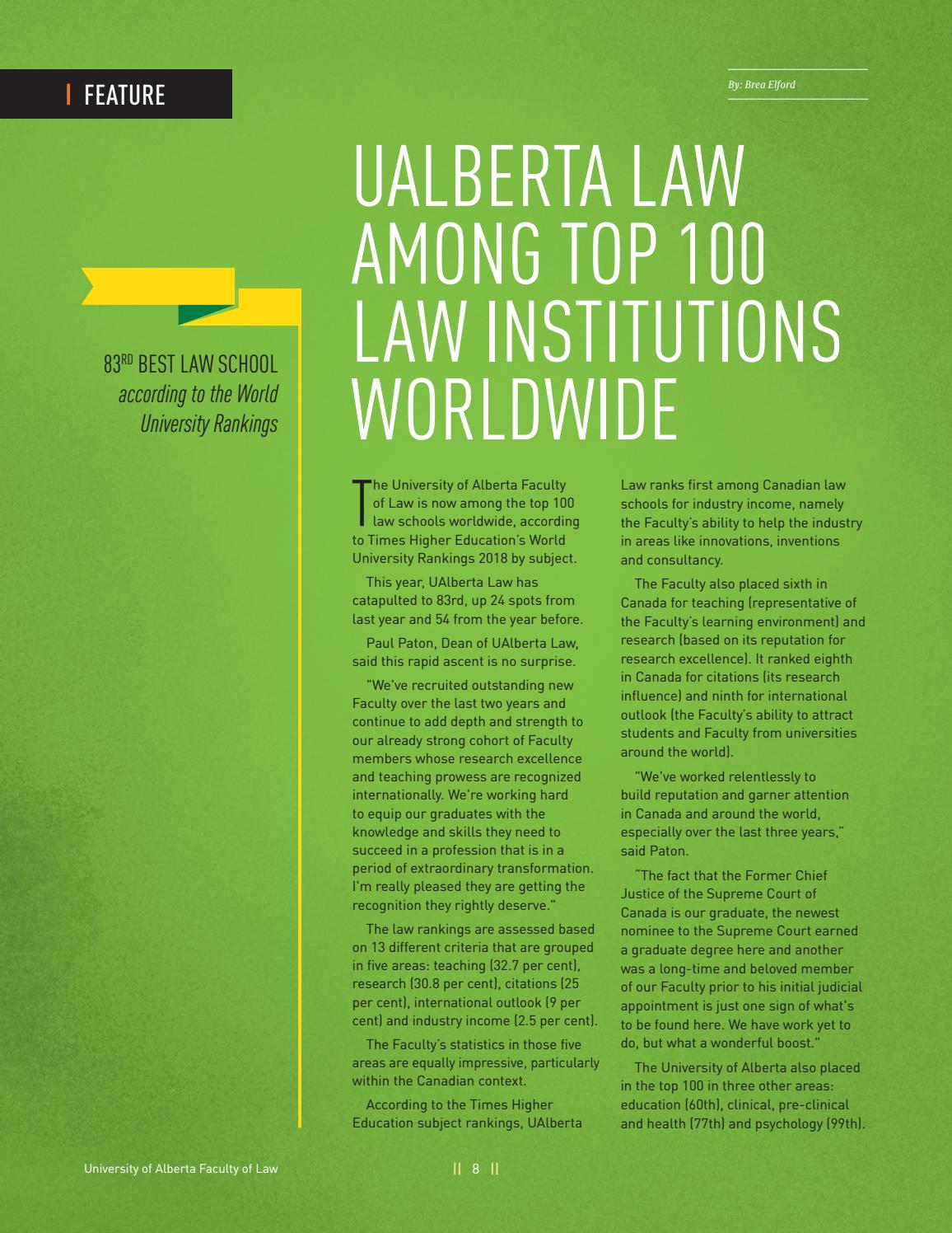 UAlberta Law Without Prejudice 2018 Winter By