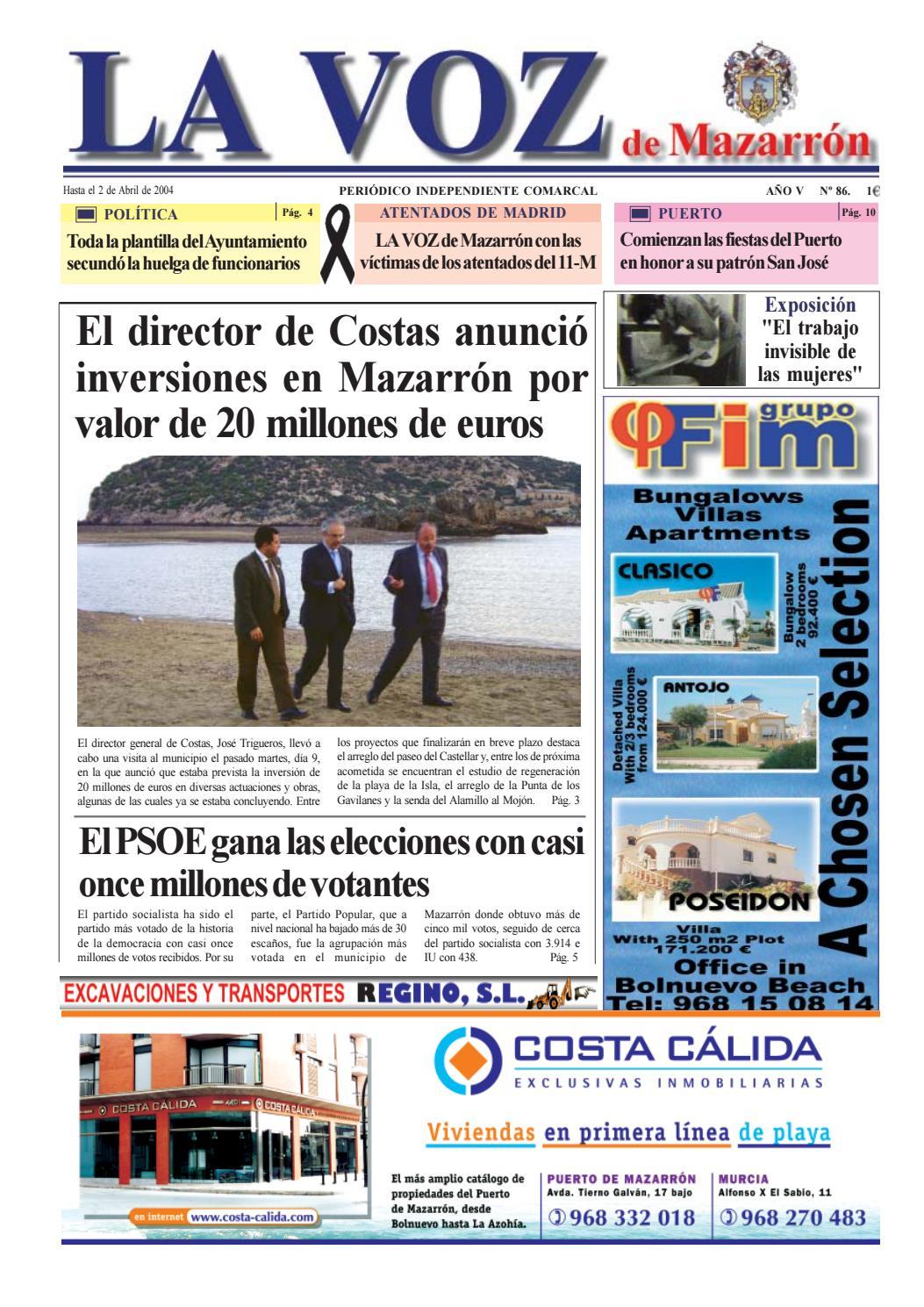 Voz 86 by La Voz de Mazarrón (Periódico) - issuu