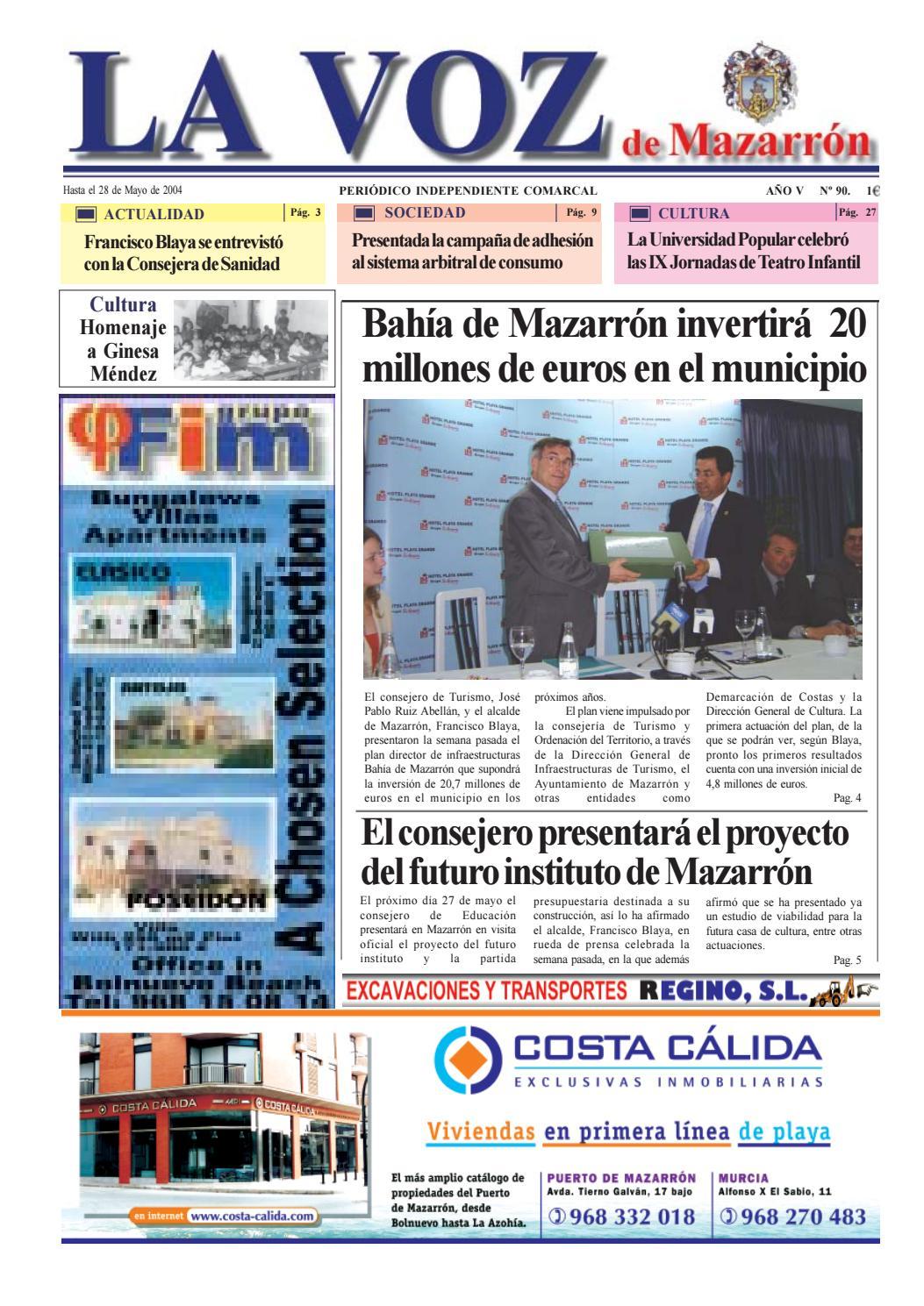 Voz 90 by La Voz de Mazarrón (Periódico) - issuu f8ce5d5f1083