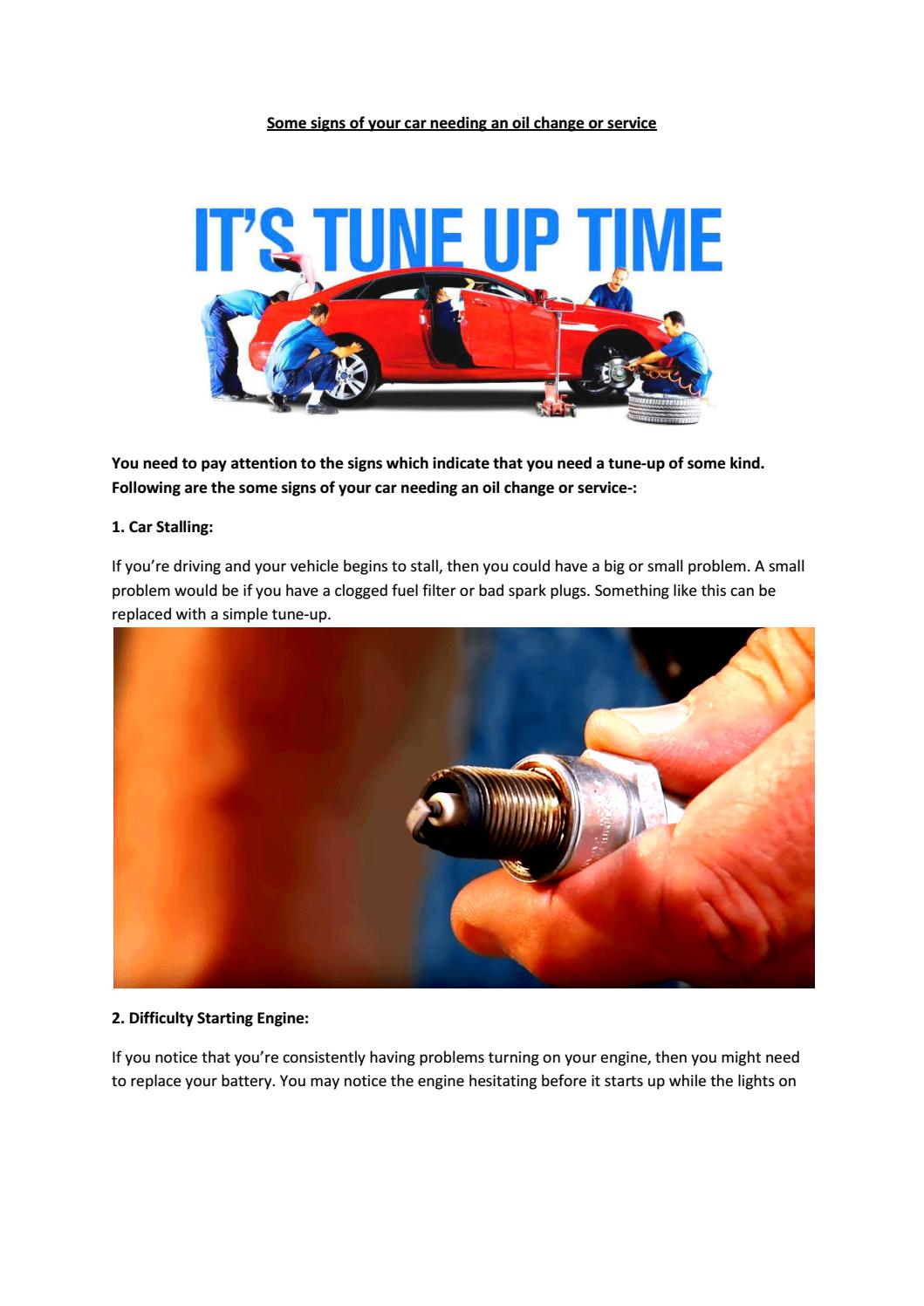Partsavatar Car Parts Toronto Some Signs Of Your Needing An Fuel Filter Problems Oil Change Or Service By Issuu