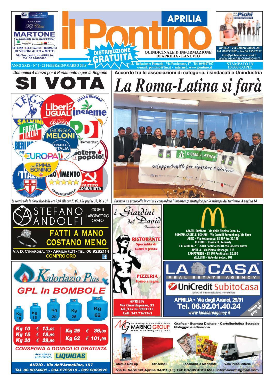 Il Pontino Aprilia Anno XXIX N. 4 22 Febbraio9 Marzo