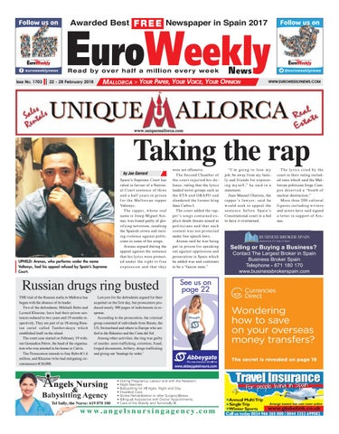Euro weekly news mallorca 22 28 february 2018 issue 1703 by euro page 1 fandeluxe Images