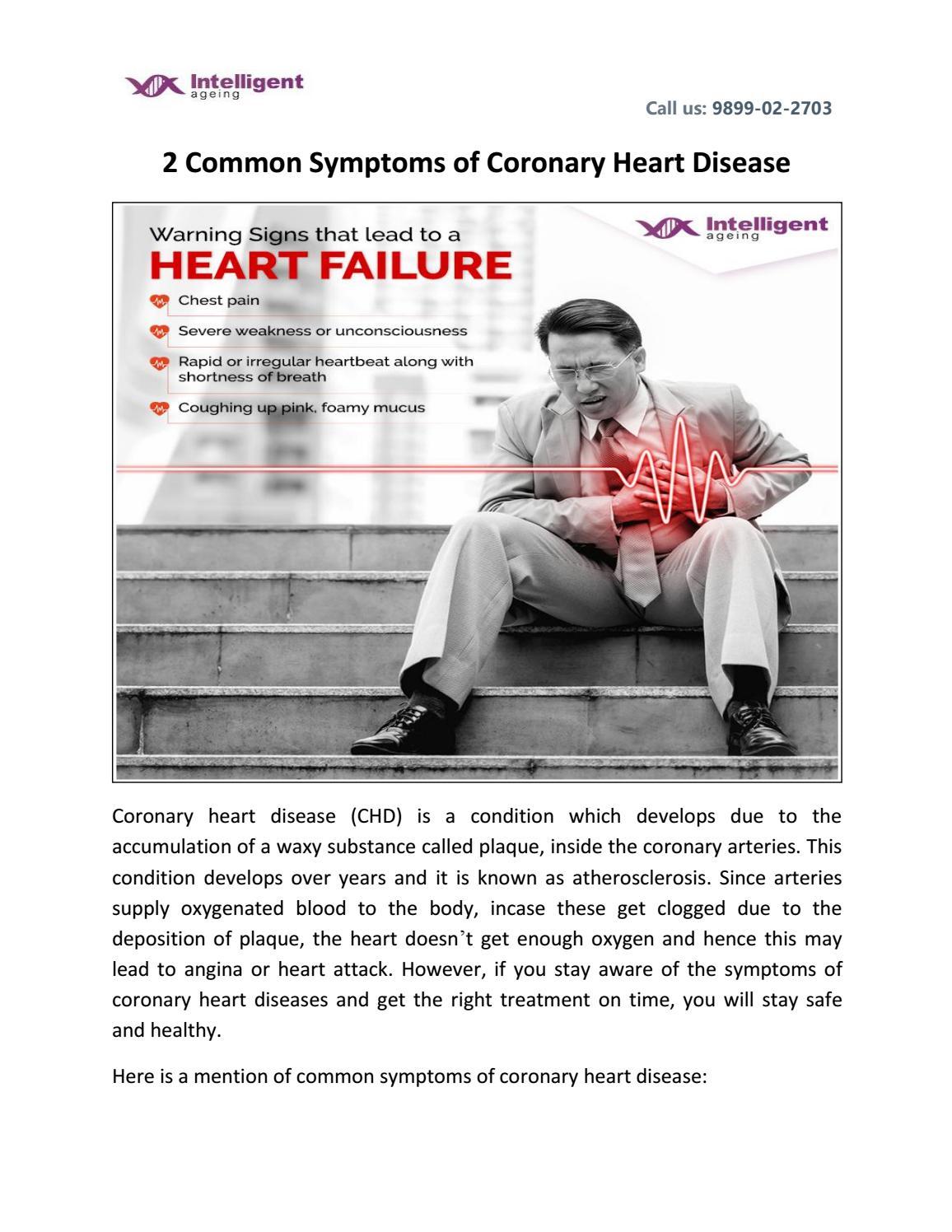 signs of coronary heart disease