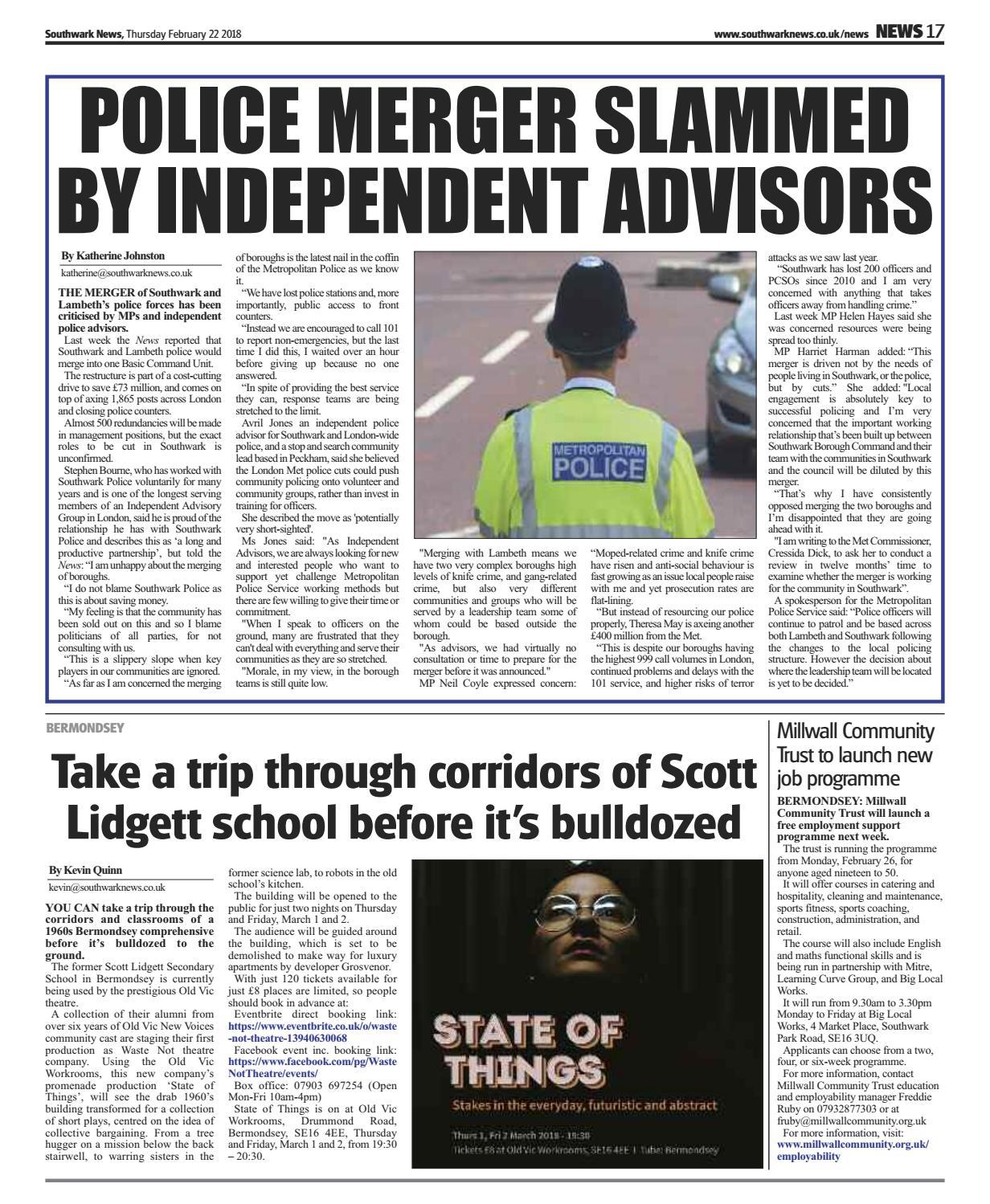 22nd February 2018 by Southwark News - issuu