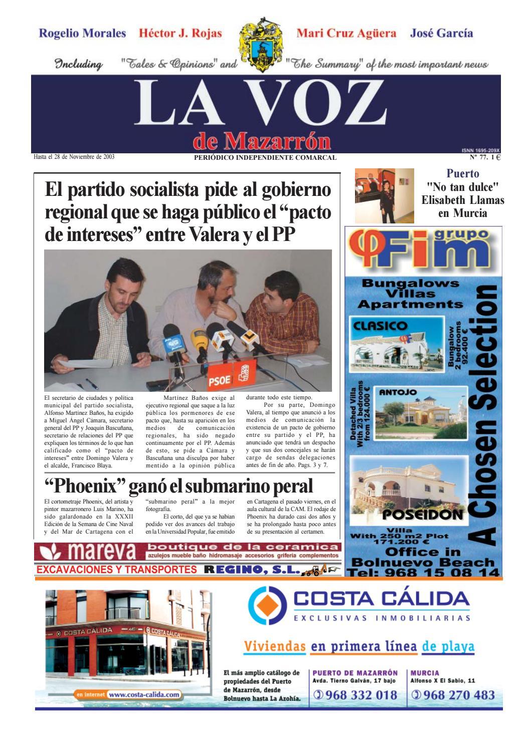 Voz 77 by La Voz de Mazarrón (Periódico) - issuu