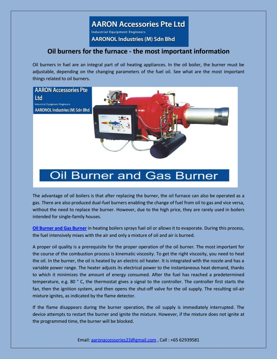 Oil burners for the furnace - the most important information by ...