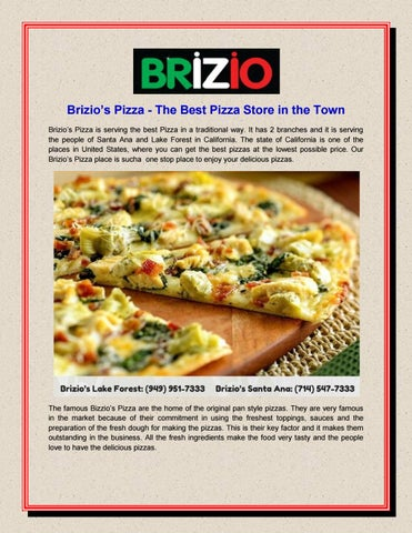 Brizio S Pizza The Best Pizza Store In The Town By Brizio Pizza Issuu