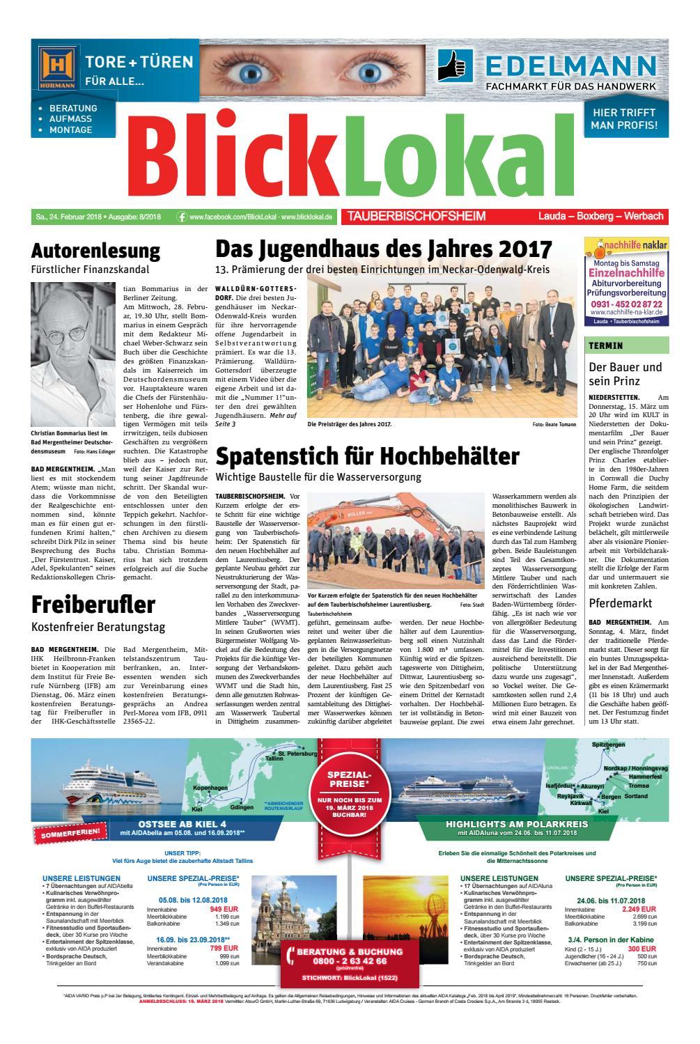 BlickLokal TauberbischofsheimKW 08 2018 by BlickLokal Wochenzeitung ...