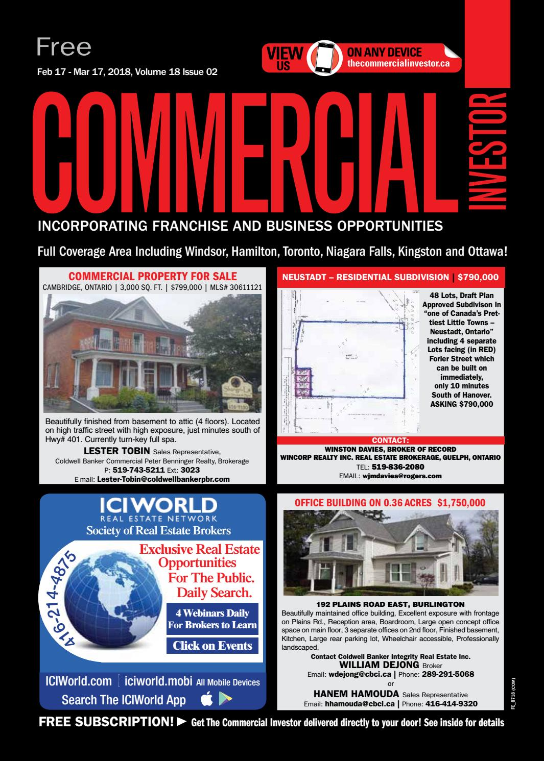 Commercial Investor 17 Feb 2018 By Nexthome Issuu Auto Forward To Correct Web Page At Inspectapediacom