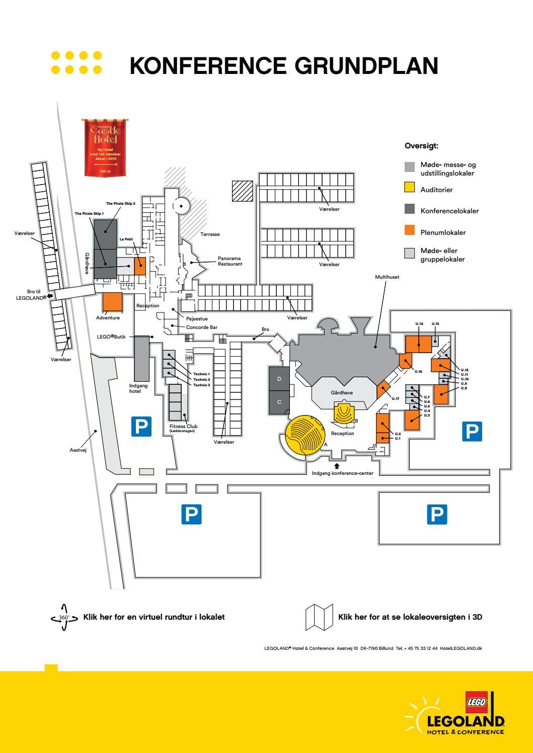 Hotel Room Floor Plan: LEGOLAND Conference Lokaleoversigt By LEGOLAND Hotel