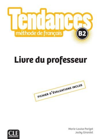 Extrait Tendances Livre Du Professeur B2 By Cle