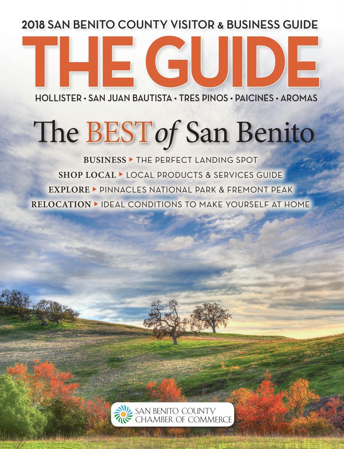 San Benito County Chamber Of Commerce 2018 Visitor Guide