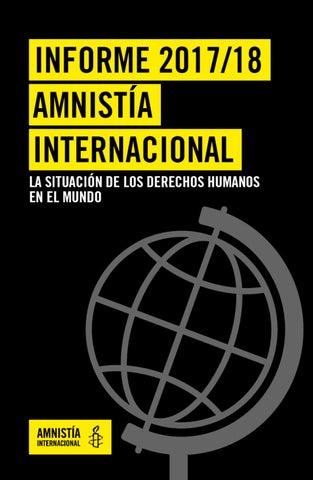 Informe Anual 2018 De Amnistía Internacional By Amnistia