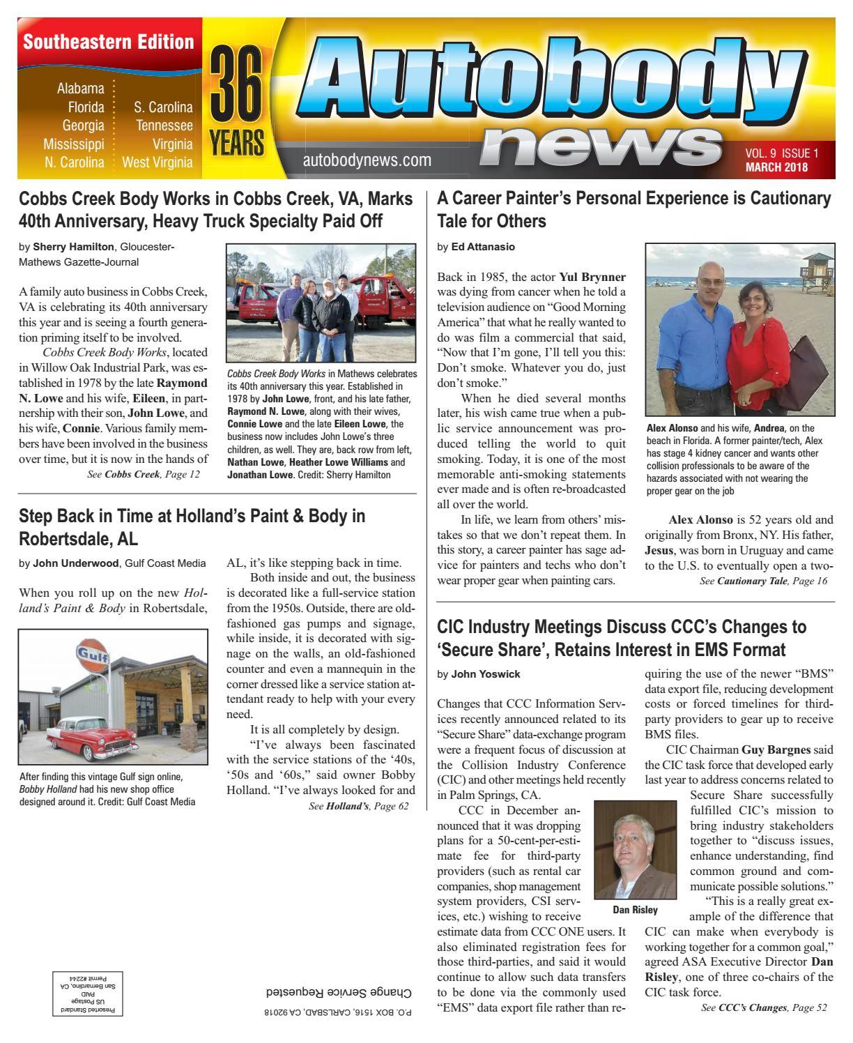 March 2018 Southeastern Edition by Autobody News - issuu