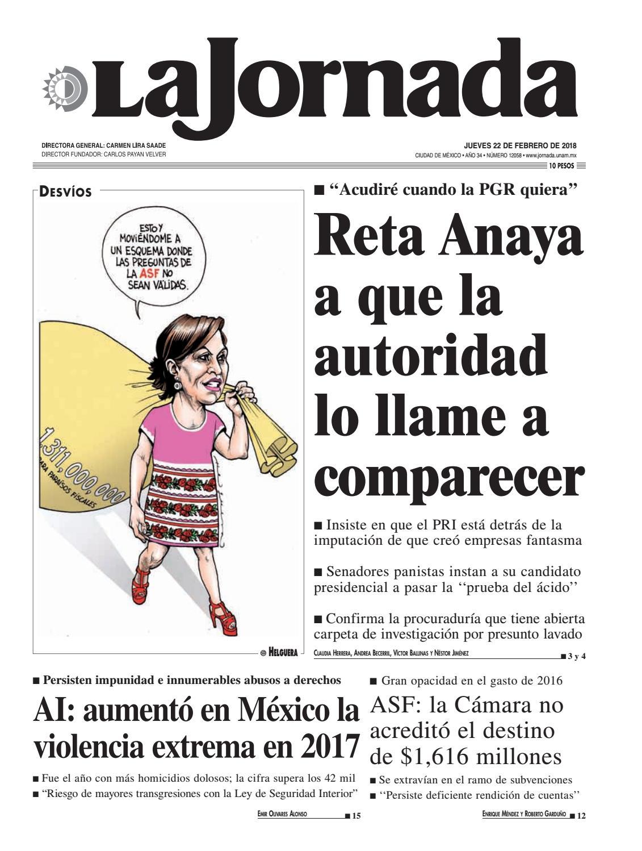 La Jornada 02222018 By La Jornada Issuu
