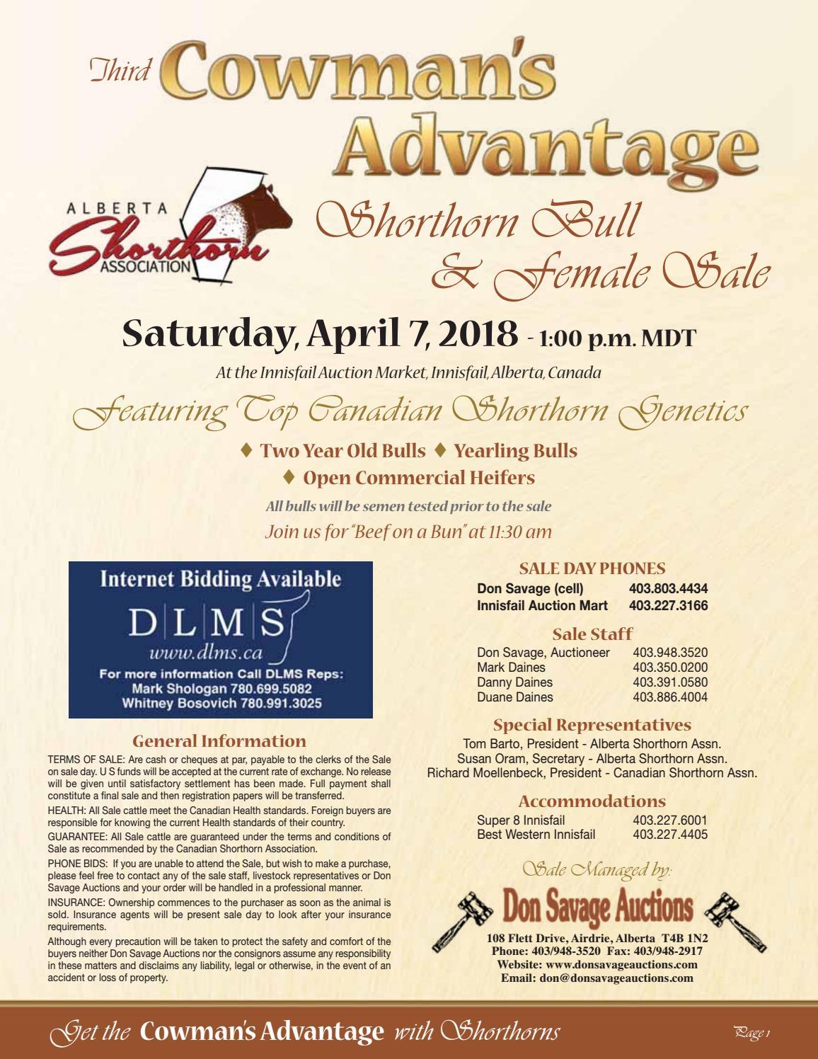 5667e8e237 Cowman's Advantage Shorthorn Bull & Female Sale 2018 by Everything Angus -  issuu
