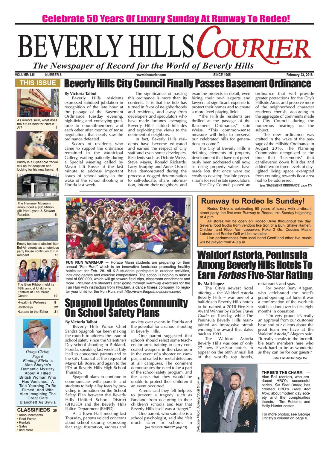 BHCourier E Edition 022318 By The Beverly Hills Courier   Issuu