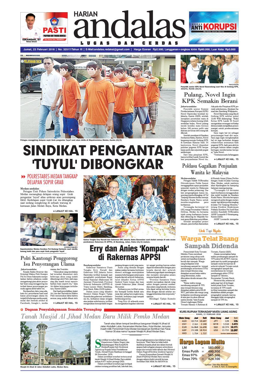 Epaper Andalas Edisi Jumat 23 Februari 2018 By Media Andalas