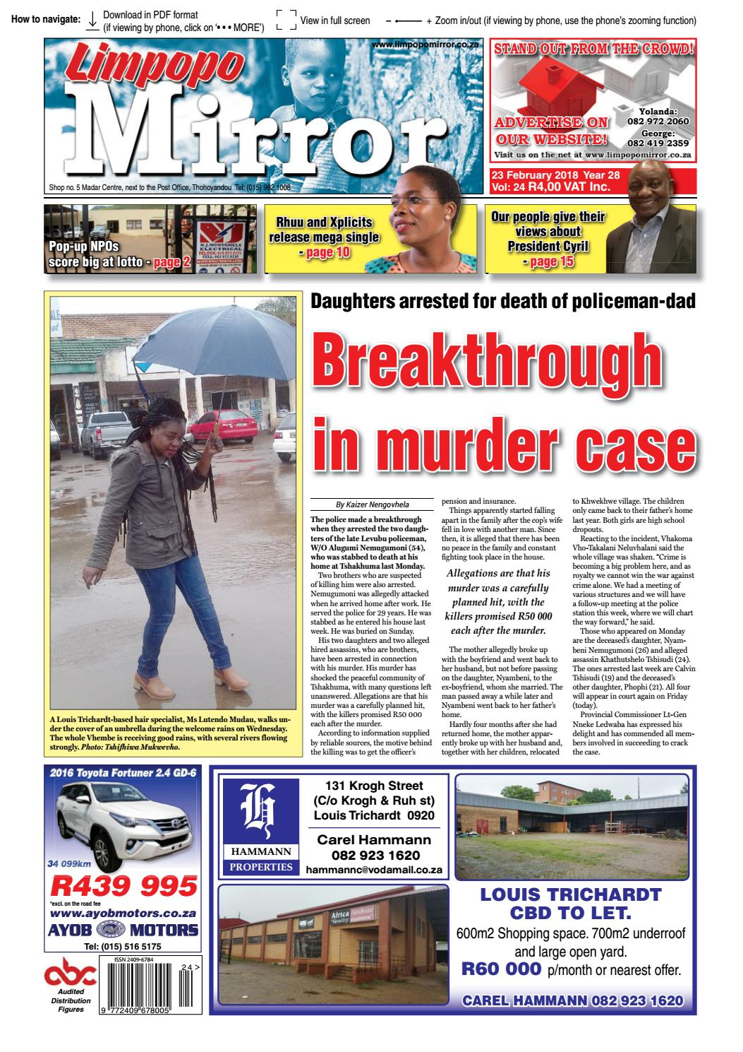 23 February 2018 Limpopo Mirror by Zoutnet - issuu