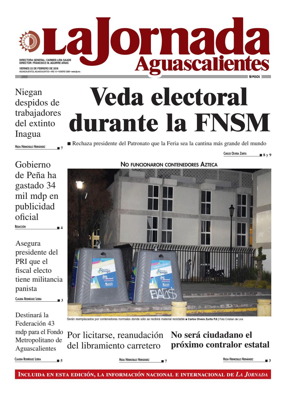 LJA23022018 by La Jornada Aguascalientes - issuu