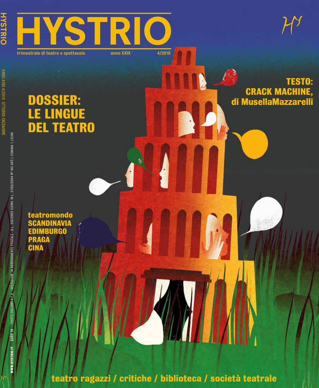 Hystrio 2016 4 Ottobre Dicembre By Hystrio Issuu