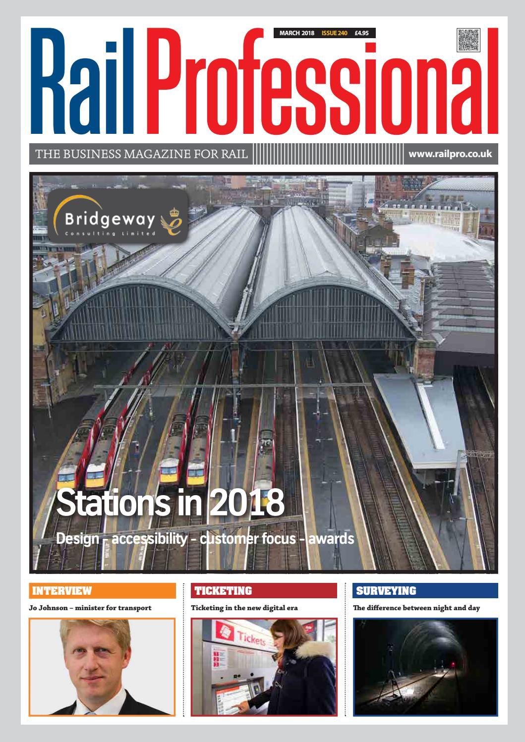 Rail Professional March 2018 by Rail Professional Magazine - issuu