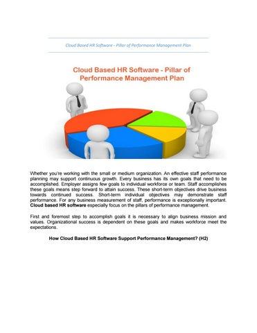 Cloud based hr software - pillar of performance management