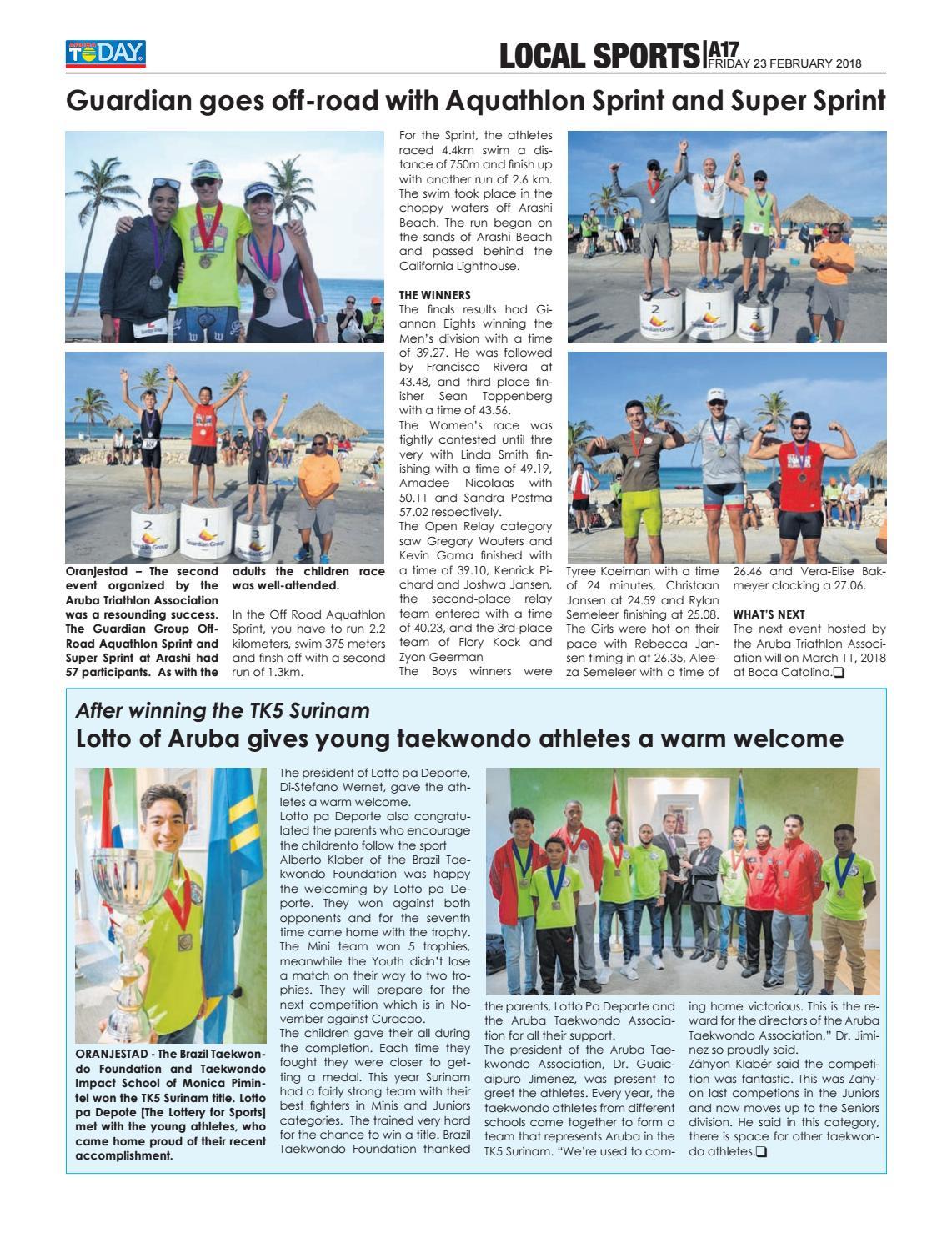 February 23, 2018 by Aruba Today - issuu