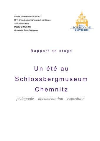 Rapport De Stage Sbm Chemnitz Praktikumsbericht Sbm Chemnitz By