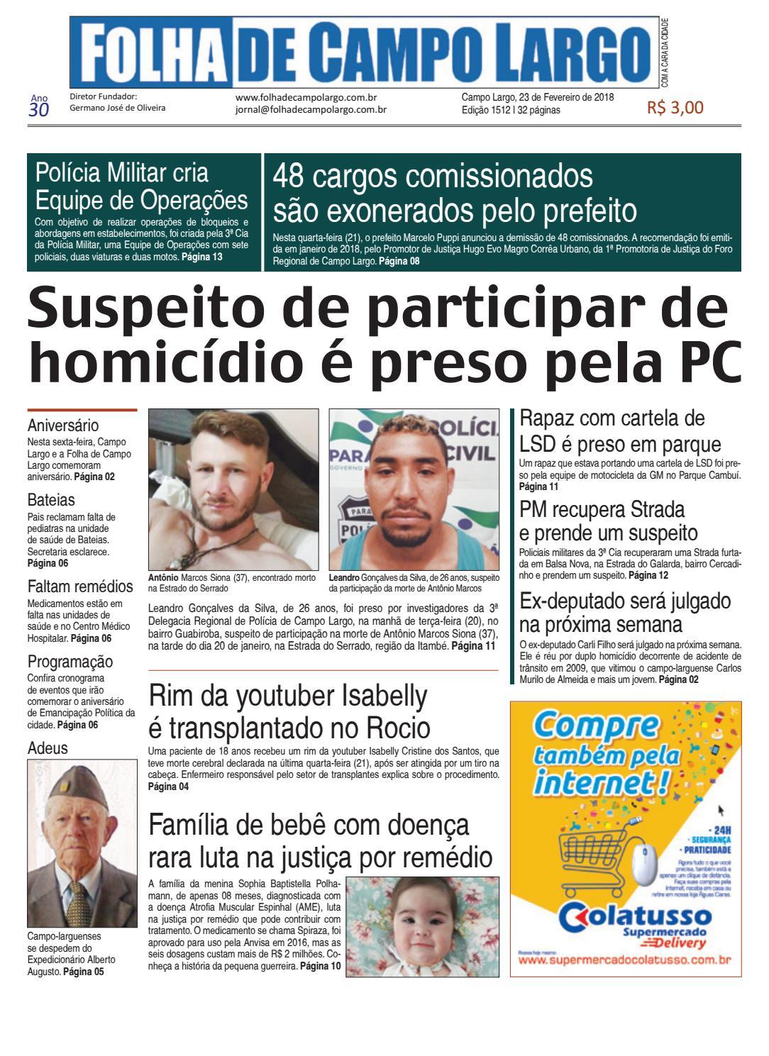 8de92abc5ba93 Folha de Campo Largo by Folha de Campo Largo - issuu