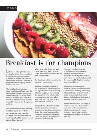 Page 14 of Breakfast is for Champions