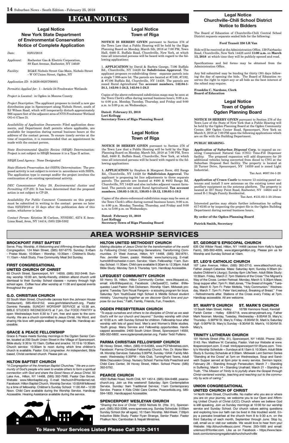 Suburban News South Edition February 25 2018 By Westside News Inc