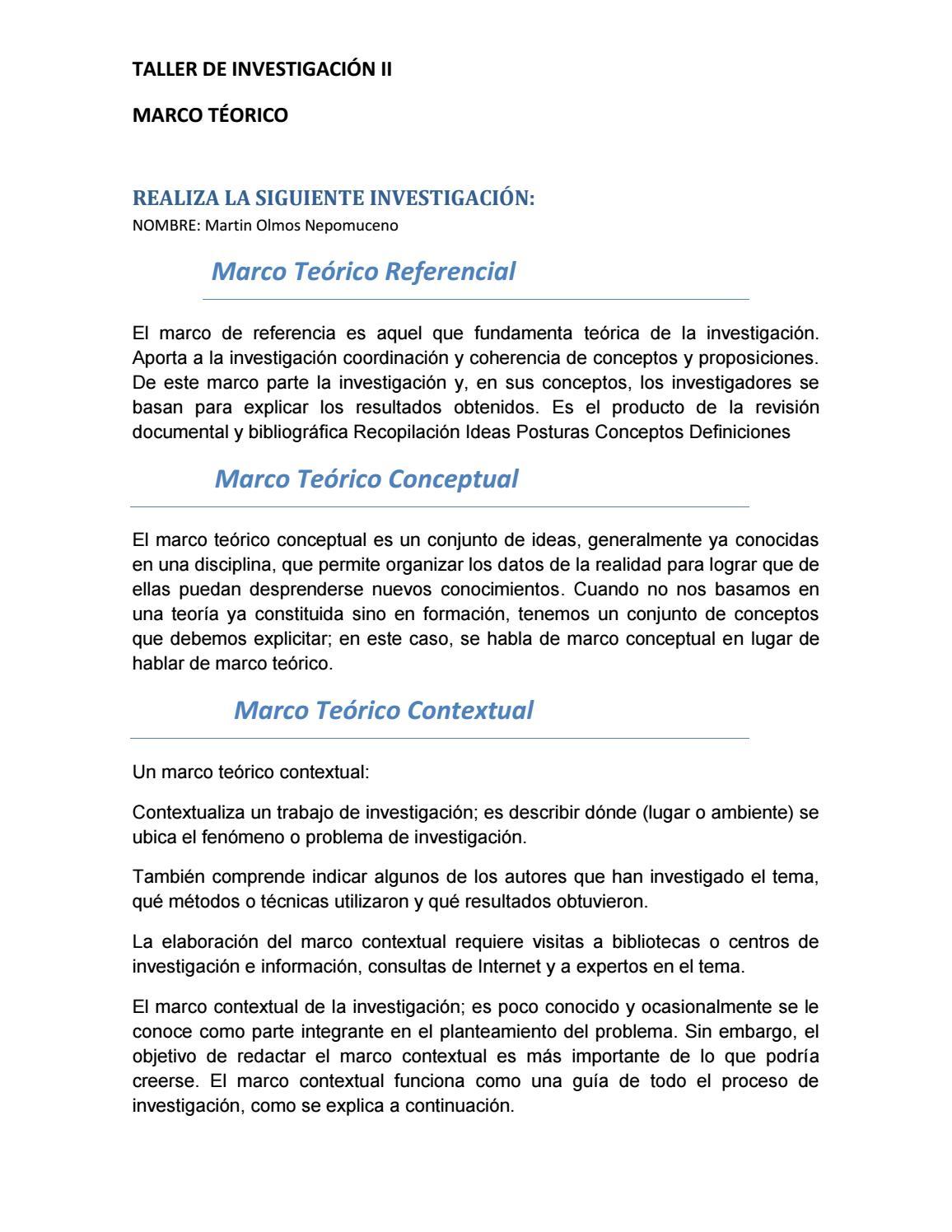 investigacion de marco teorico by martin - issuu