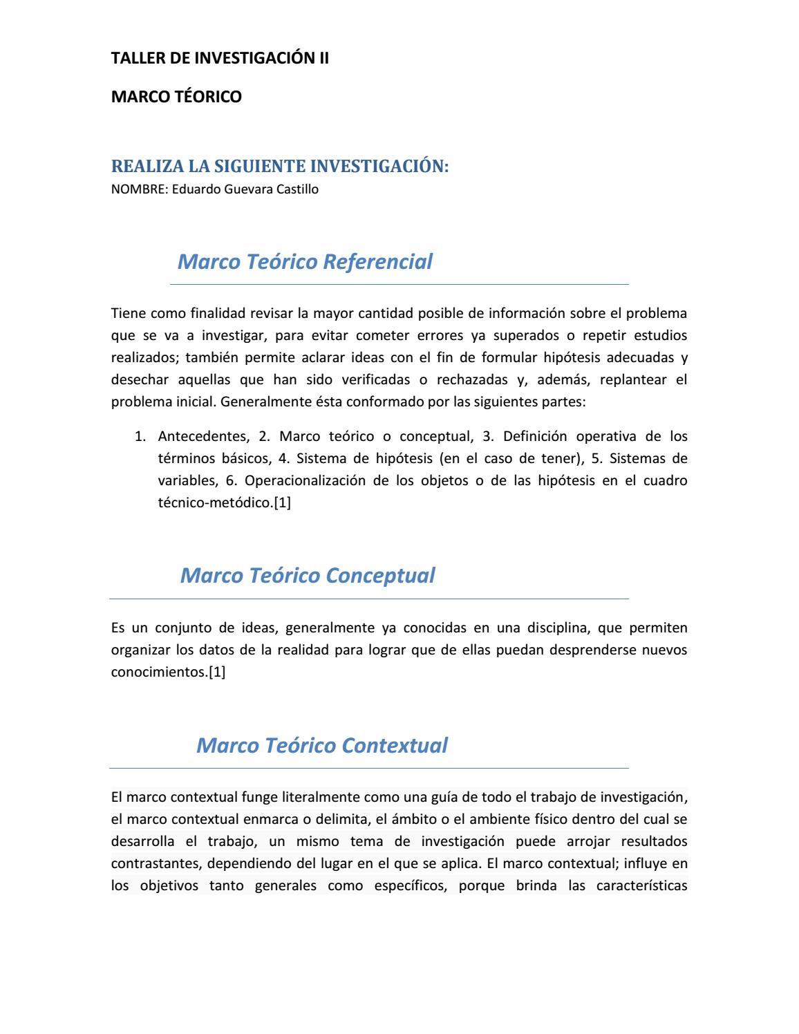 Investigación del marco teórico by Eduardo Guevara Castillo - issuu
