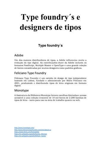 Typefoundry 1 by maria_viana - issuu