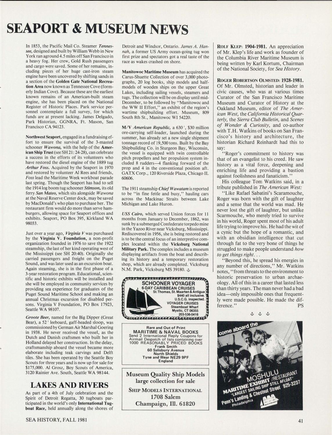 Sea History 022 - Autumn 1981 by National Maritime