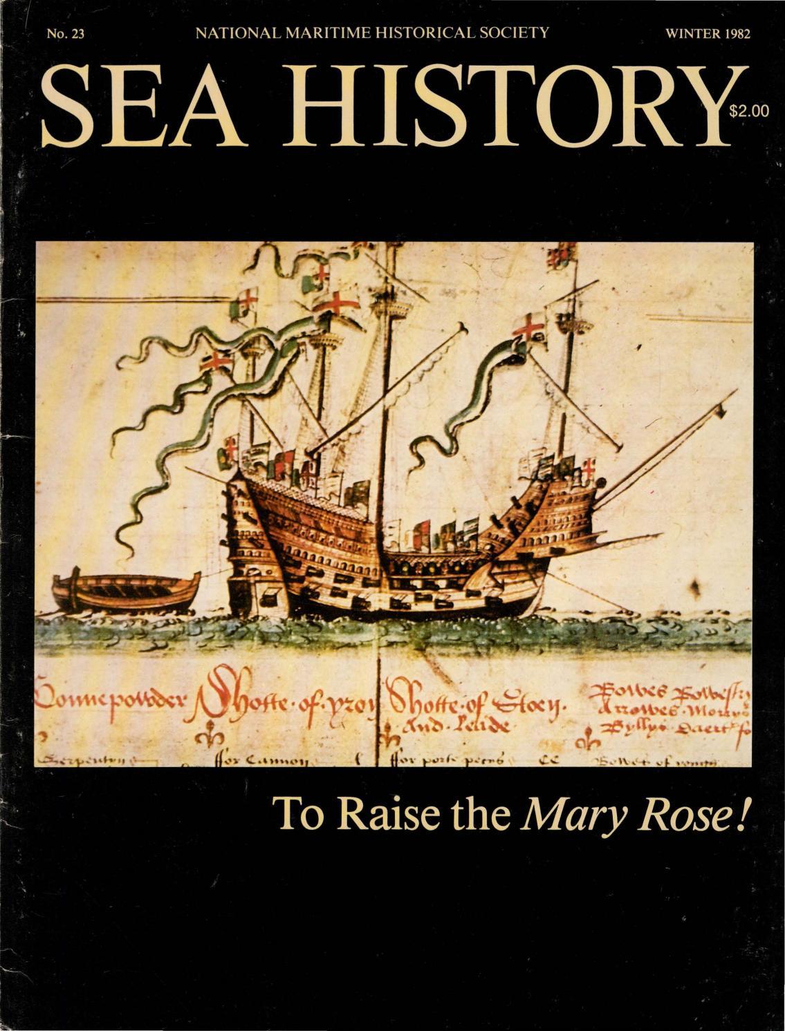 Sea History 023 - Winter 1981-1982 by National Maritime Historical Society  & Sea History Magazine - issuu