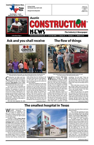 Austin Construction News March 2018 by Construction News